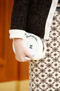 Chanel White Plate Clutch Bag - Fall 2015 Runway