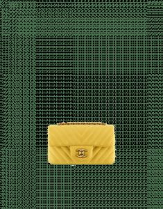 Chanel Yellow Chevron Extra Mini Flap Bag - Spring 2015 Act 2