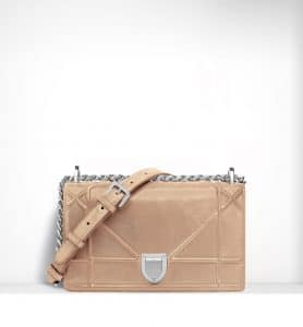 Dior Beige Iridiscent Diorama Small Flap Bag - Spring 2015