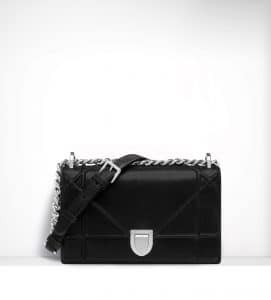 Dior Black Iridiscent Diorama Small Flap Bag - Spring 2015
