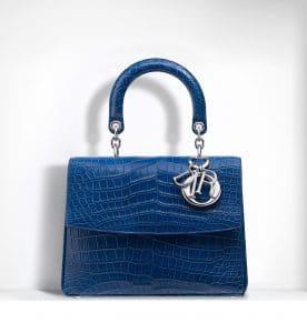 Dior Blue Glossy Crocodile Be Dior Small Bag - Spring 2015