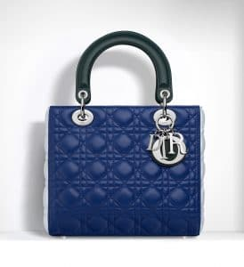 Dior Blue/Celeste/Deep Green Lady Dior Bag - Spring 2015