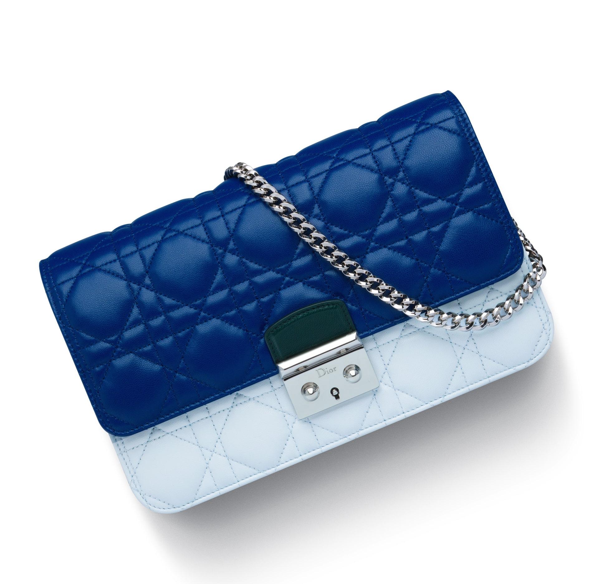 Dior Blue Celeste Deep Green Miss Dior Large Promenade Pouch - Spring 2015 791eb06161