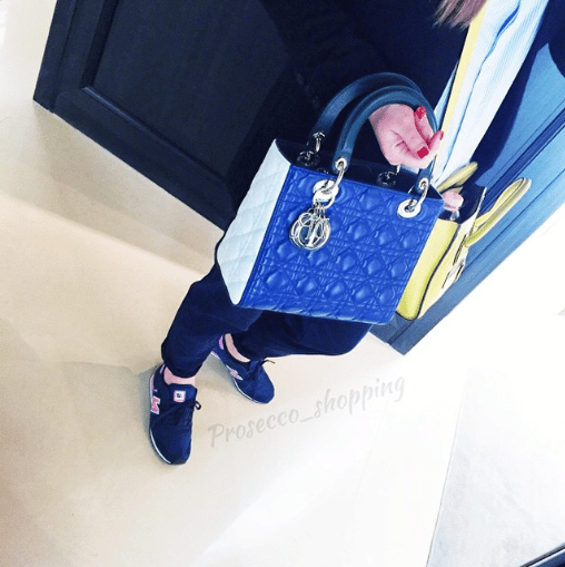 Dior Blue/White Lady Dior Bag