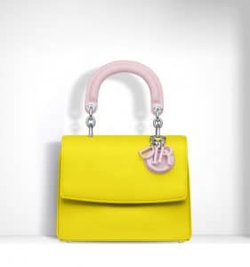 Dior Bright Yellow/Rose Dragee Be Dior Mini Bag - Spring 2015