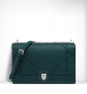 Dior Deep Green Diorama Large Flap Bag - Spring 2015