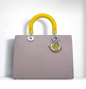 Dior Dune/Celeste/Bright Yellow Diorissimo Bag - Spring 2015