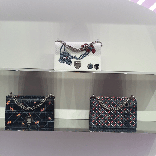 Dior Embroidered Diorama Flap Bags