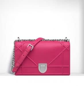 Dior Fuchsia Diorama Flap Bag - Spring 2015