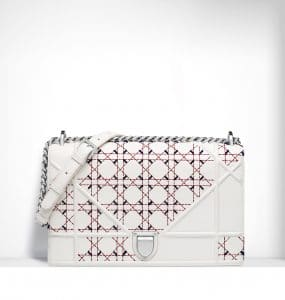 Dior Latte Tufted Diorama Large Flap Bag - Spring 2015