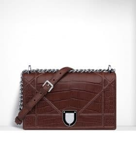 Dior Noisette Glossy Diorama Flap Bag - Spring 2015