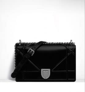 Dior Ultra Black Diorama Flap Bag - Spring 2015