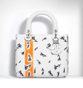 Dior White Embroidered Lady Dior Bag - Spring 2015