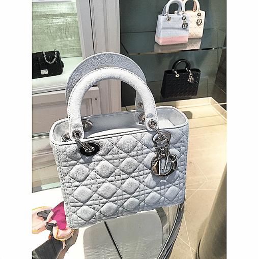 Dior White Lady Dior Medium Bag