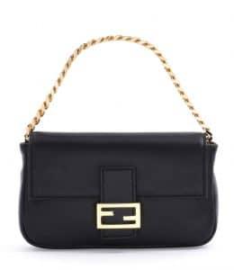 Fendi Black Micro Baguette Bag