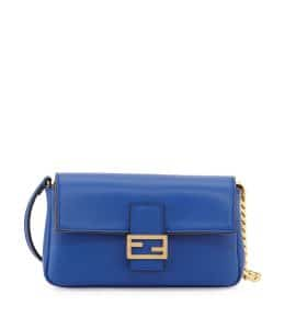 Fendi Blue Baguette Micro Bag