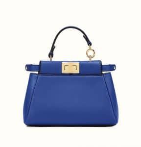 Fendi Blue Micro Peekaboo Bag