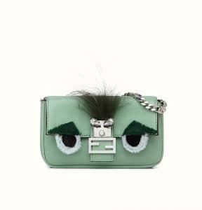 Fendi Green Monster Micro Baguette Bag