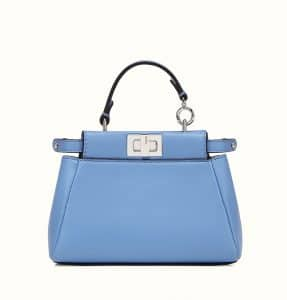 b51a734bb7b5 ... Fendi Light Blue Micro Peekaboo Bag ...
