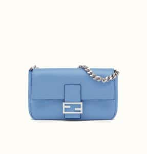 Fendi Light Blue Micro Baguette Bag