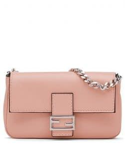 Fendi Pink Micro Baguette Bag