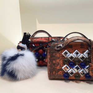 Fendi Python Embellished By The Ways Bags and Karlito Charm - Fall 2015