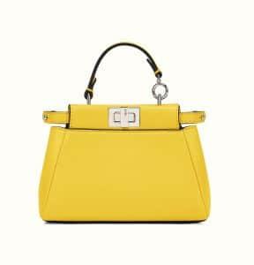 Fendi Yellow Micro Peekaboo Bag