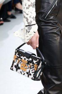 Louis Vuitton Black/White Printed Petite Malle Bag - Fall 2015 Runway