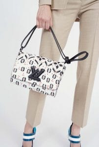 Louis Vuitton Black/White Printed Twist Bag