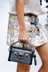 Louis Vuitton Blue/Black Crocodile Petite Malle Bag - Fall 2015 Runway