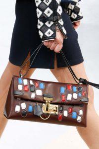 Louis Vuitton Brown Embellished Flap Bag - Fall 2015 Runway