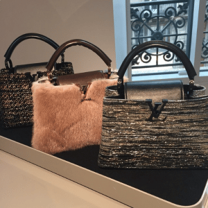 Louis Vuitton Embellished/Fur Capucines Bags - Pre-Fall 2015