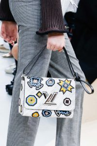 Louis Vuitton Grey Epi Embellished Twist Bag - Fall 2015 Runway
