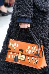 Louis Vuitton Orange Embellished Flap Bag - Fall 2015 Runway