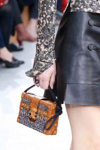 Louis Vuitton Tan Leather:Tweed Petite Malle Bag - Fall 2015 Runway