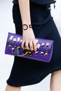 Louis Vuitton Violet Embellished Clutch Bag - Fall 2015 Runway