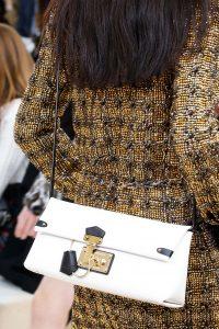 Louis Vuitton White Flap Bag - Fall 2015 Runway