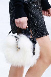 Louis Vuitton White Fur/Black Leather Petite Malle Bag - Fall 2015 Runway