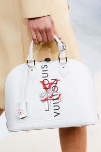 Louis Vuitton White Printed Alma Bag - Fall 2015 Runway