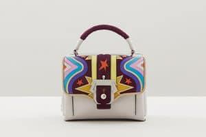 Paula Cademartori Beige Multicolor with Stars Print Dun Dun Bag - Fall 2015