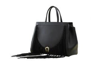Paula Cademartori Black Fringed Tote Bag - Fall 2015