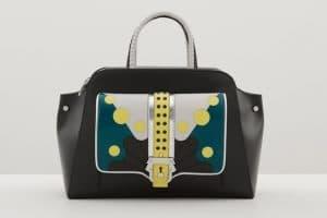 Paula Cademartori Black Multicolor with Polkadots Top Handle Bag - Fall 2015