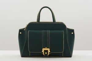 Paula Cademartori Green/Gold Tote Bag - Fall 2015