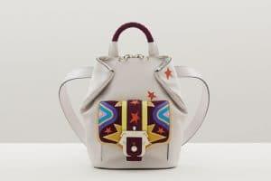 Paula Cademartori Off White Multicolor with Stars Print Petite Ivy Backpack Bag - Fall 2015