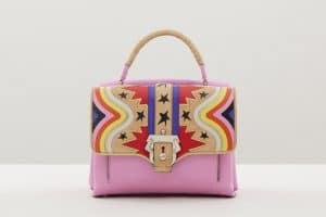 Paula Cademartori Pink Multicolor with Stars Print Faye Bag - Fall 2015