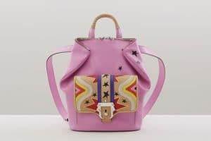 Paula Cademartori Pink with Star Prints Petite Ivy Backpack Bag - Fall 2015