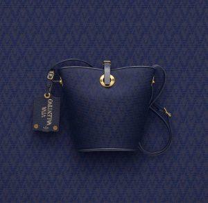 Valentino Dark Blue Eye On You Viva Valentino Bucket Bag