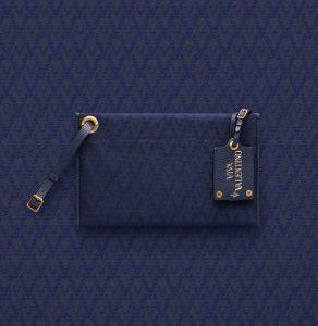 Valentino Dark Blue Eye On You Viva Valentino Clutch Bag