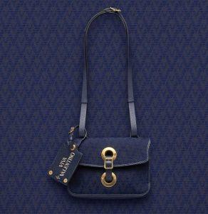 Valentino Dark Blue Eye On You Viva Valentino Shoulder Bag