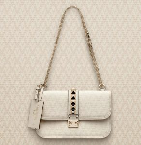 Valentino Ivory Viva Valentino Lock Flap Medium Bag